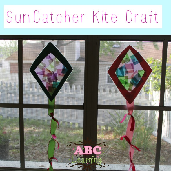 Sun catcher kite craft