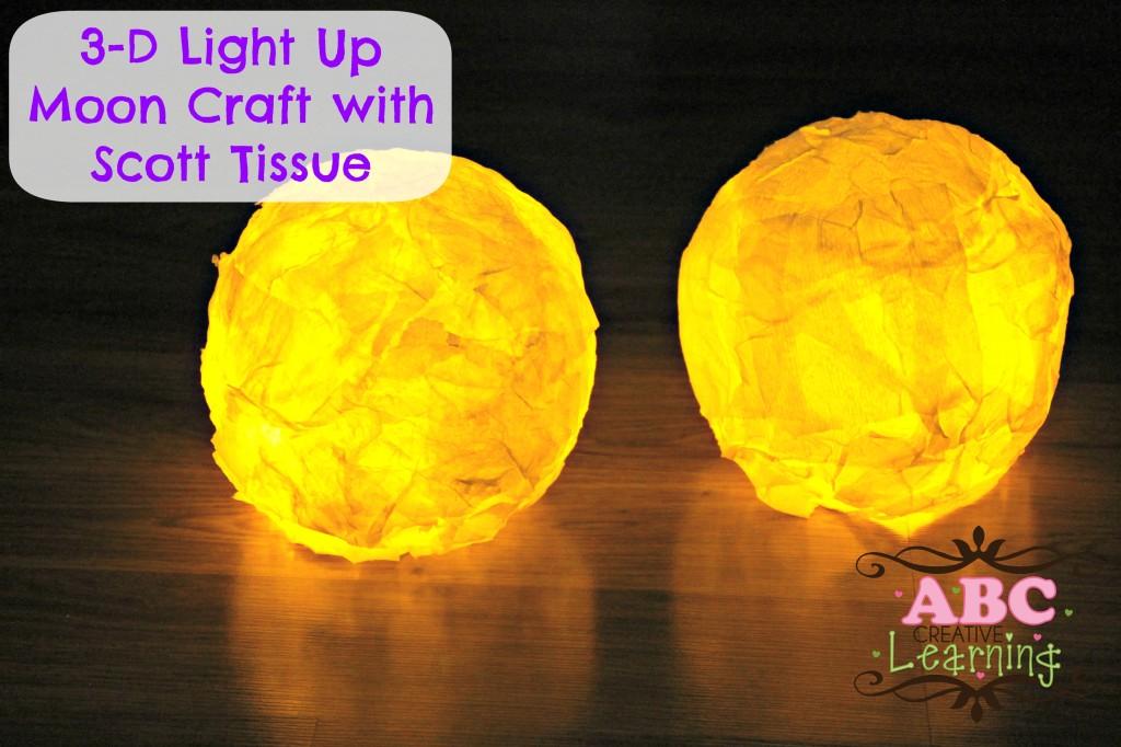 3-D Light Up Moon Craft with Scott Tissue