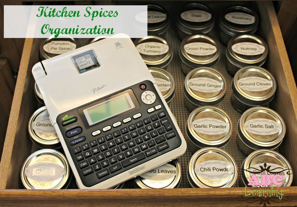 Kitchen Spices Organization
