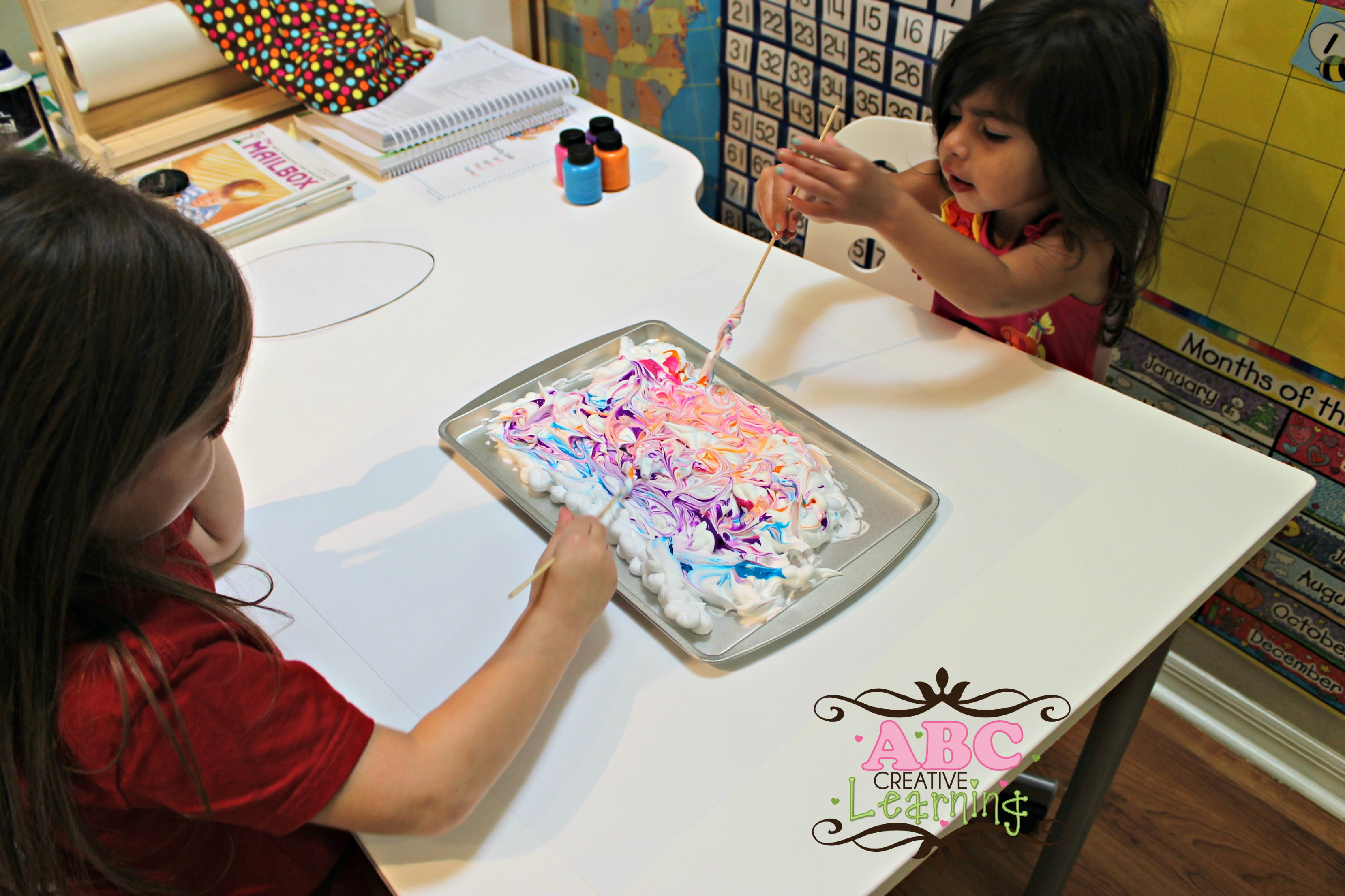 Shaving Cream Paint Swirl