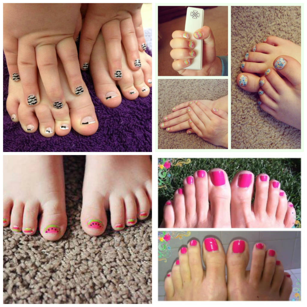 Jamberry on kids and feet
