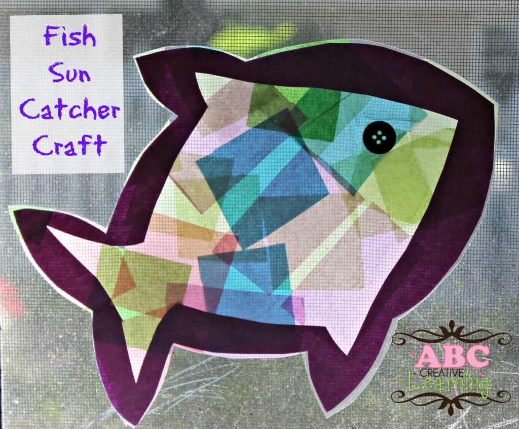 Sun Catcher Fish Craft
