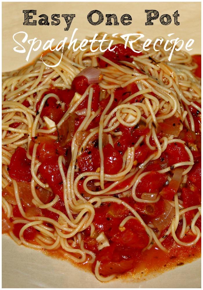 Easy One Pot Spaghetti Recipe