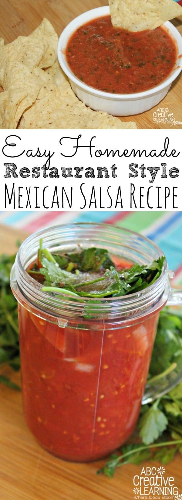 Homemade Restaurant Style Salsa