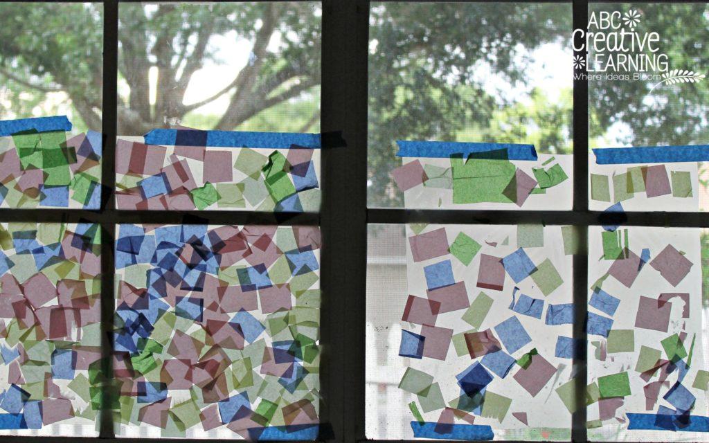 Kids Window Craft Mosaic