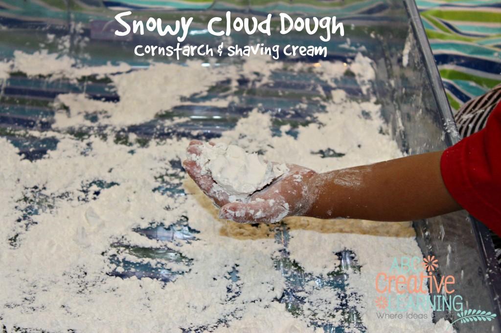 snowy cloud dough