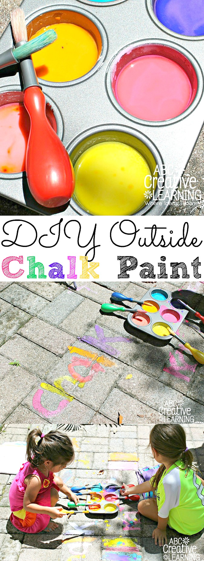 DIY Outside Chalk Paint - abccreativelearning.com