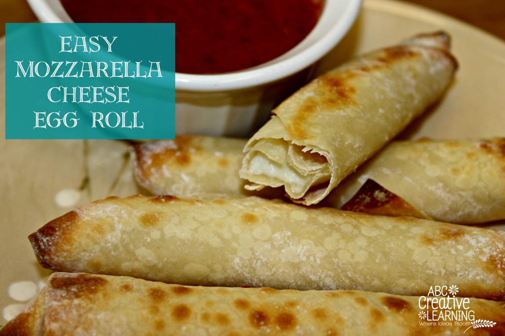 Easy  Mozzarella Cheese  Egg Roll
