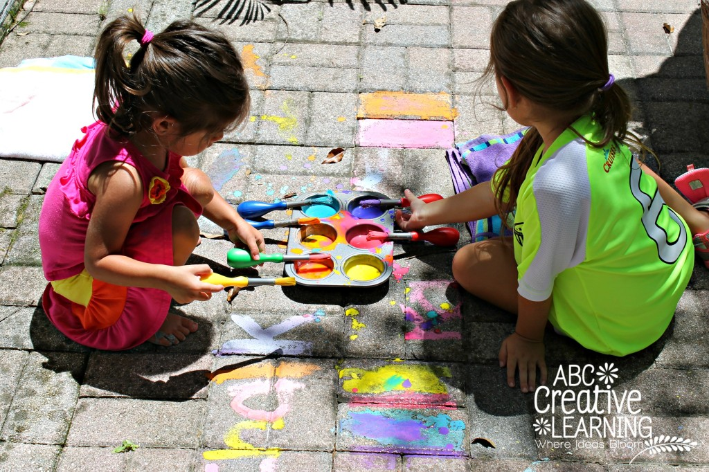 Make your own outside chalk for play