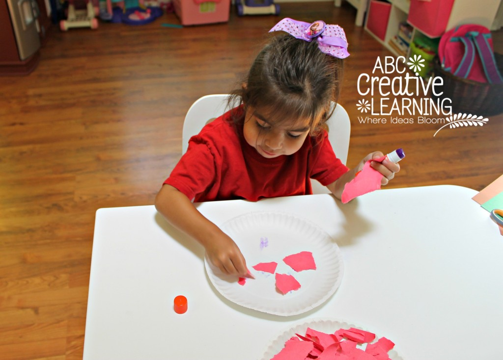 Fine Motor Skills Toddler Apple Craft