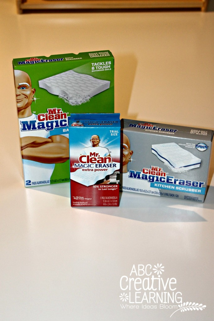 Mr. Clean Magic Eraser for cleaning crafting areas