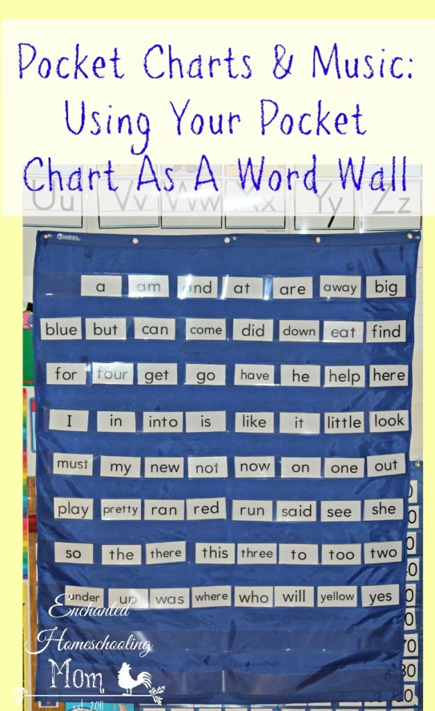 Pocket Charts & Music: Using Your Pocket Chart As A Word Wall - Enchanted Homeschooling Mom