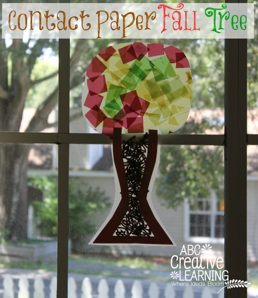 Contact Paper Fall Tree Kids Craft