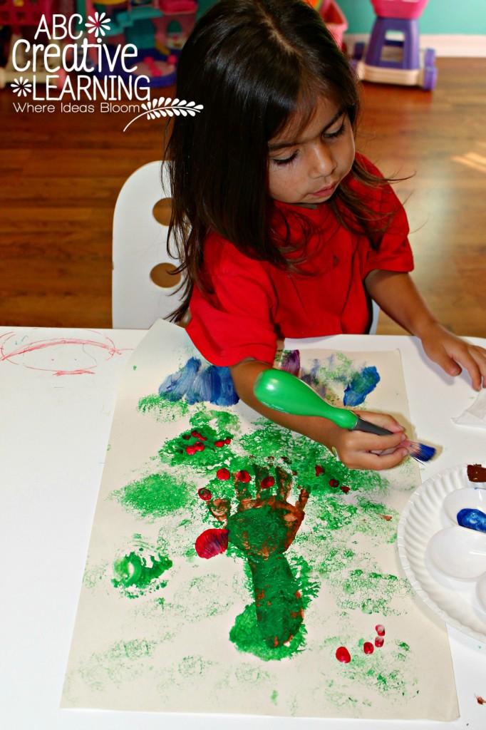 Handprint Apple Tree Craft for Kids