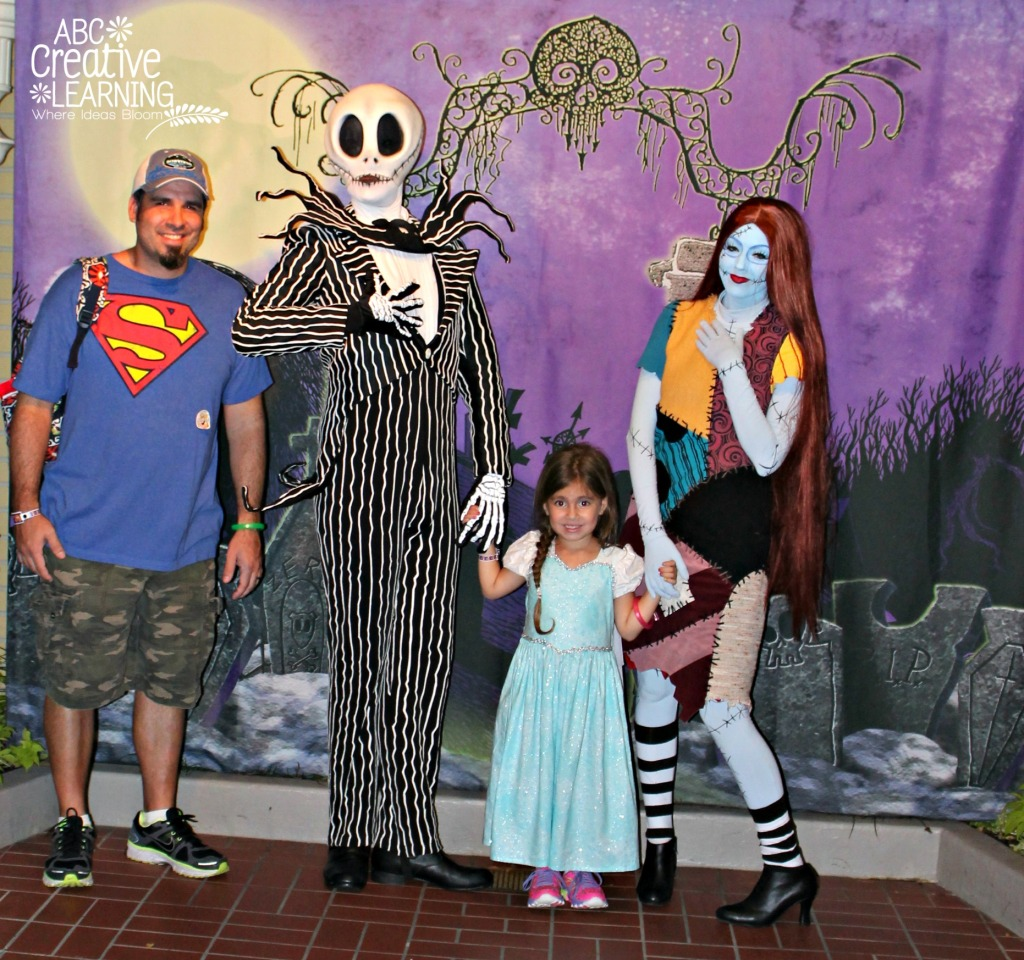 Jack and Sally at Mickey's Not So Scary Halloween Party