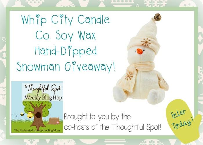WhipCity Candle Co. Soy Wax Hand-Dipped Snowman