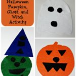 Felt Halloween Pumpkin, Ghost, and Witch Activity