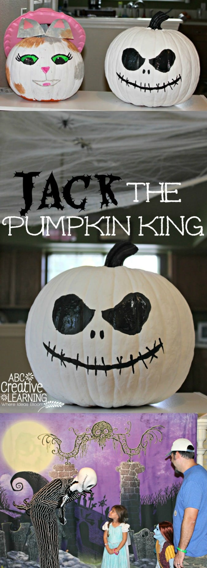 Jack Skellington Pumpkin No Carve Craft - simplytodaylife.com
