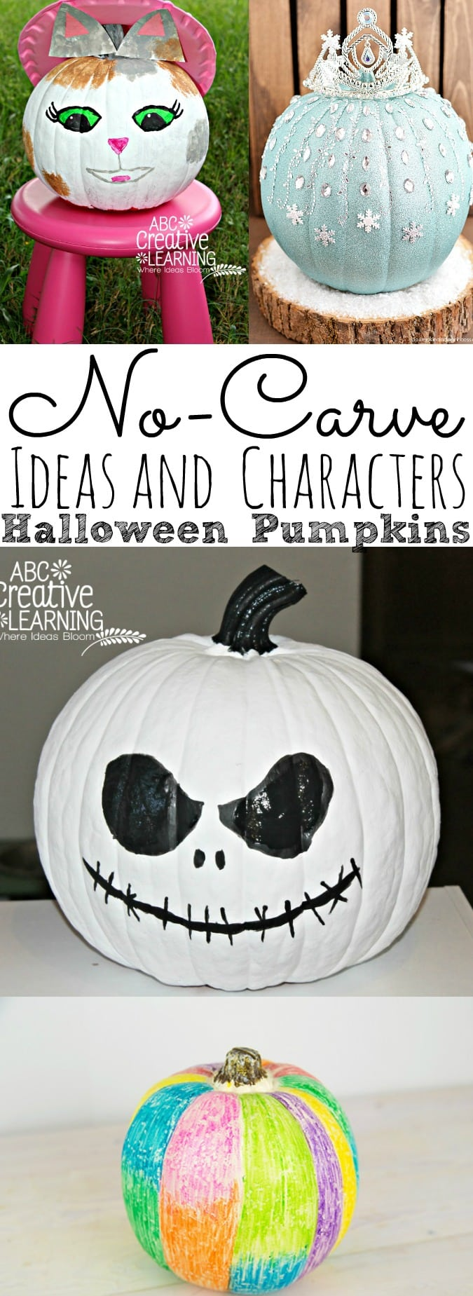 No-Carve Halloween Pumpkin Ideas