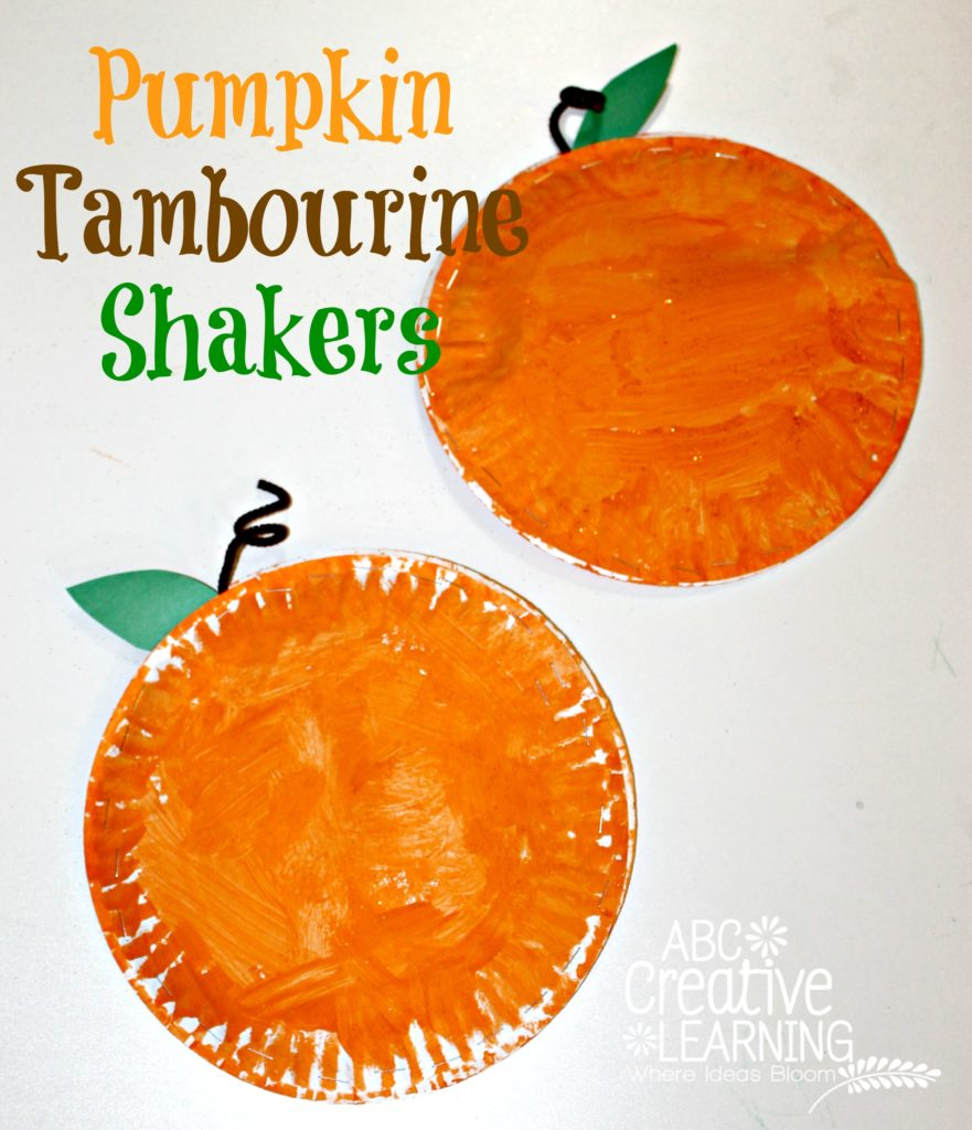 Pumpkin Tambourine Shakers - abccreativelearning.com