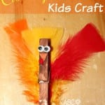 Clothespin Feathered Turkey Kids Craft