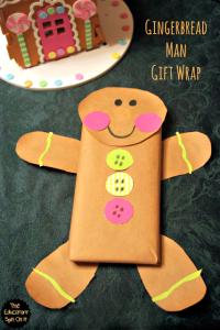 Gingerbread Man Chocolate Gift WRap
