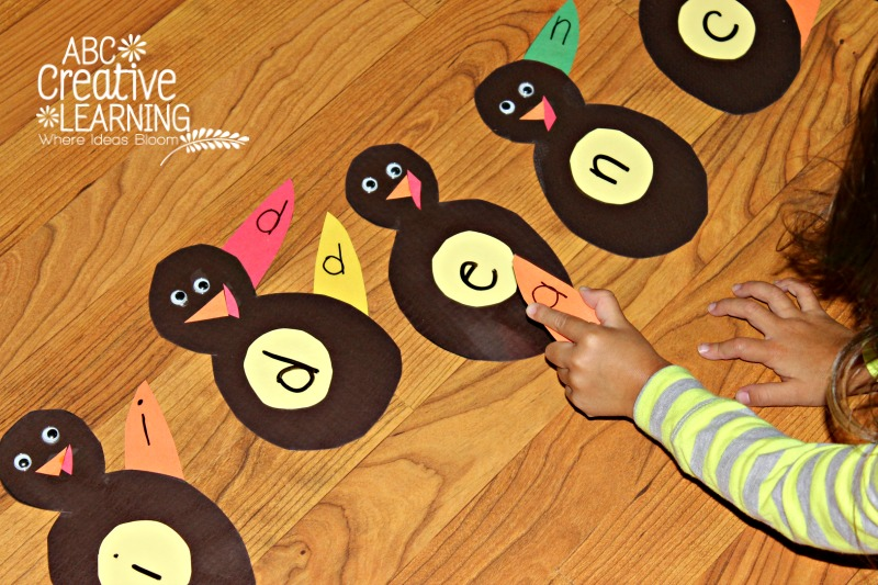 Learning Name Recognition Turkey Feather Activity
