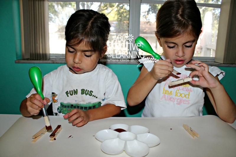 Painting Turkey Clothespin
