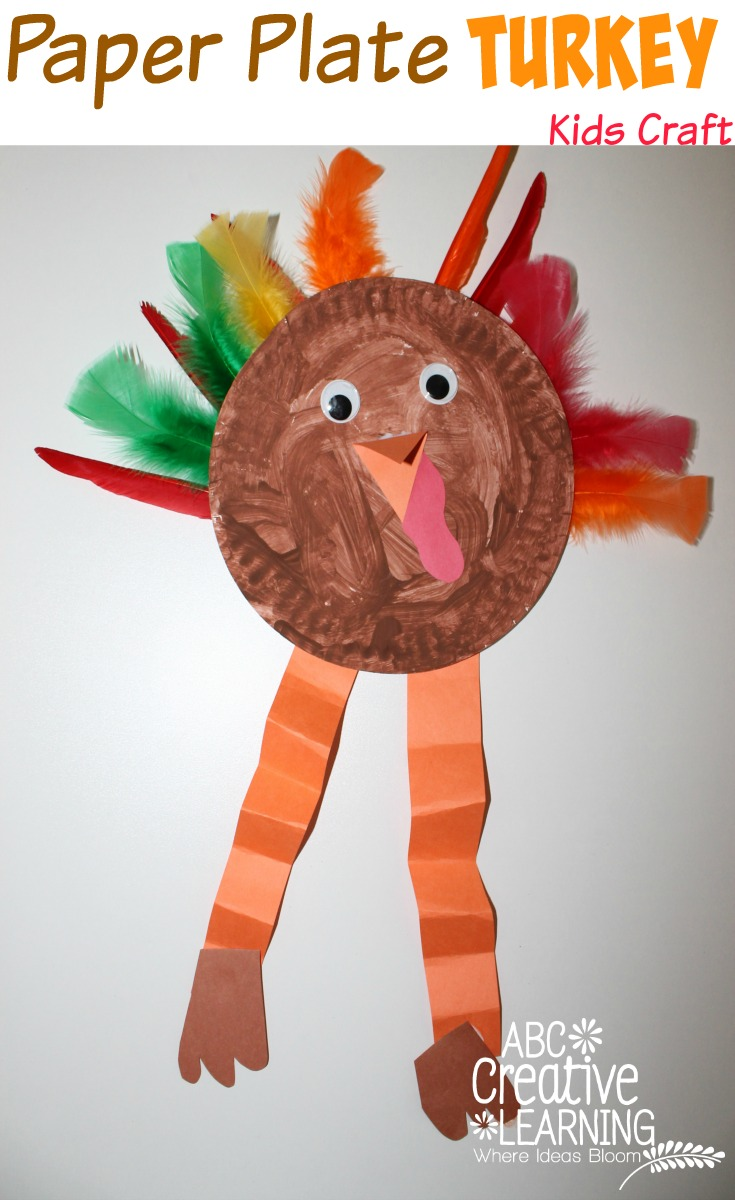Paper plate turkey kids craft for Paper plate craft images