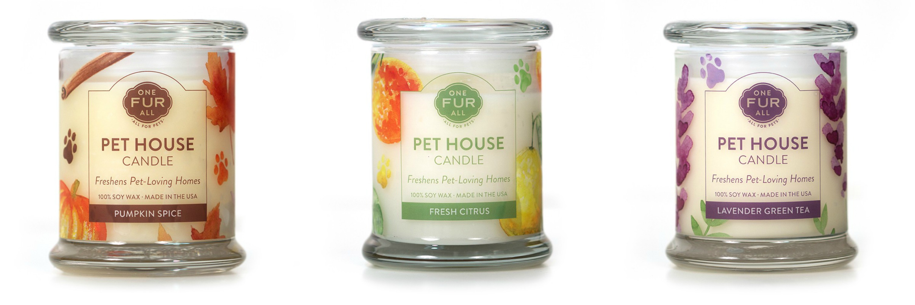 Pet House Candle in All Three Scents