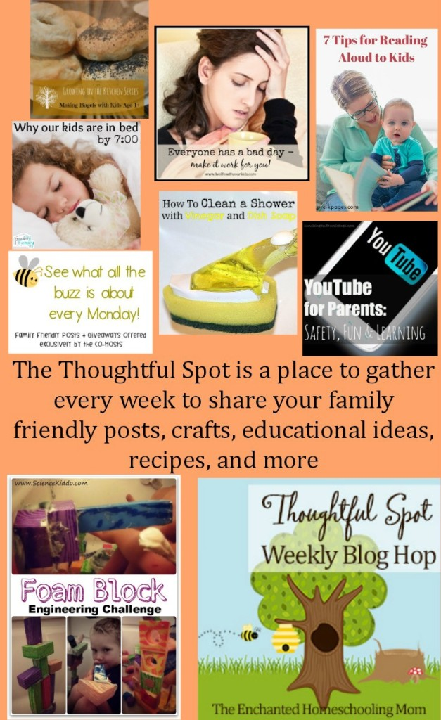 The Thoughtful Spot Blog Hop Link Up Party! Is a place to gather every week to share your family friendly posts, crafts, educational ideas, recipes, and more!