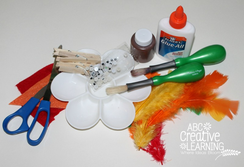 Turkey Clothespin Materials Needed