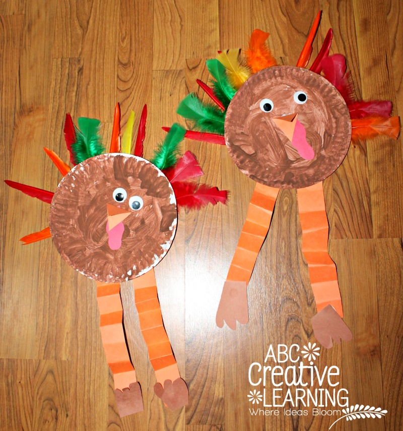 Turkey Feather Paper Plate Craft for Kids