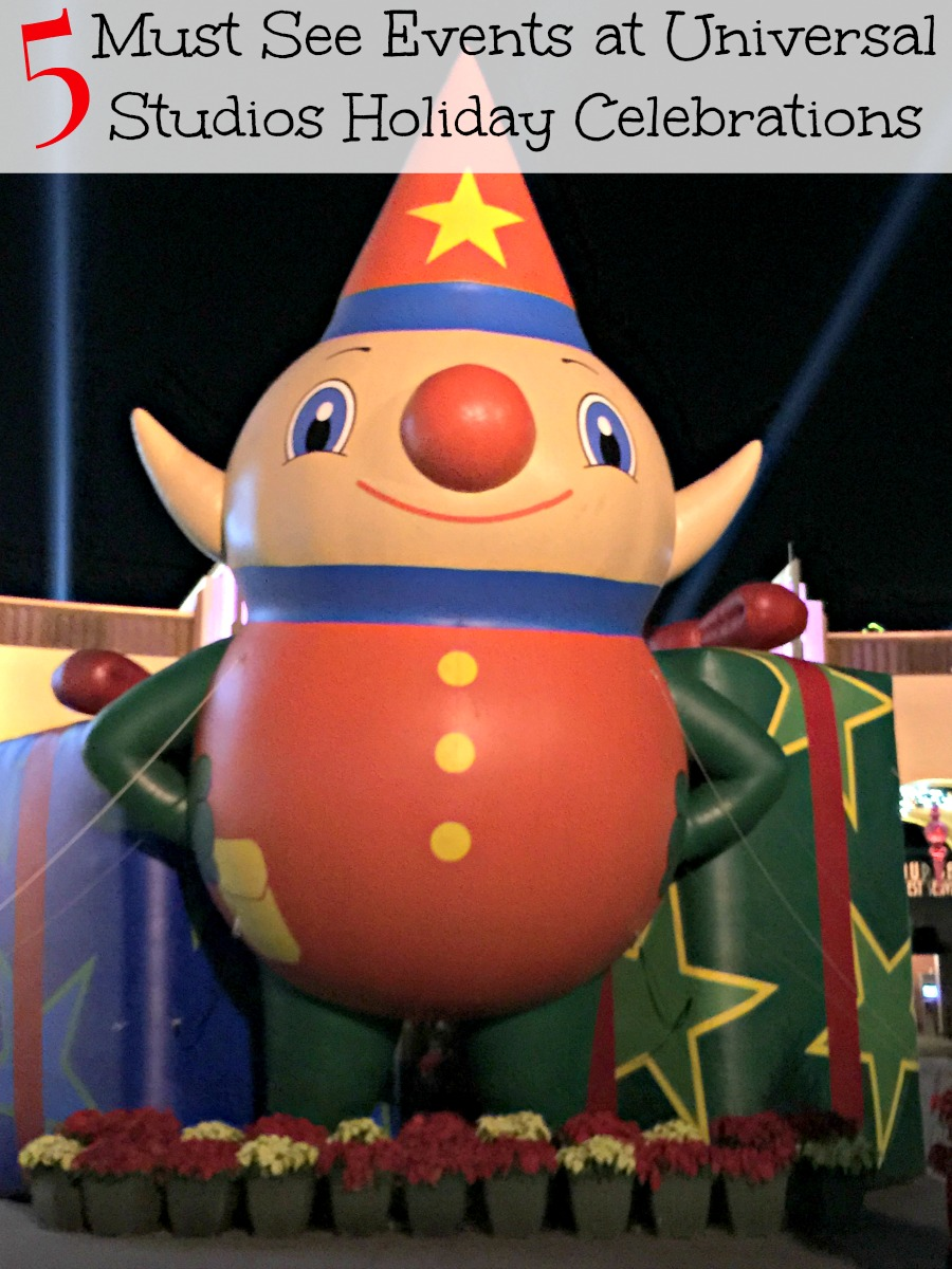 5 Must See Events at Universal Studios Holiday Celebrations
