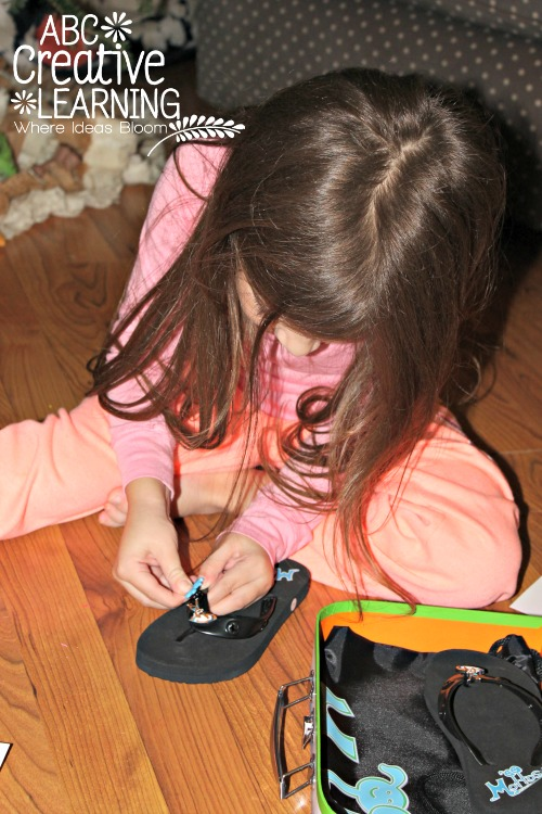 Allowing Kids to Express Themselves with Flip Flops by Mottos and Fine Motor Skills