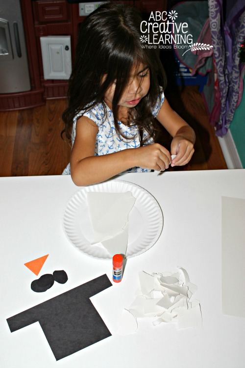 Fine Motor Skills Craft with Paper Tearing