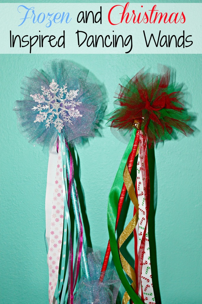 Frozen and Christmas Inspired Dancing Wands