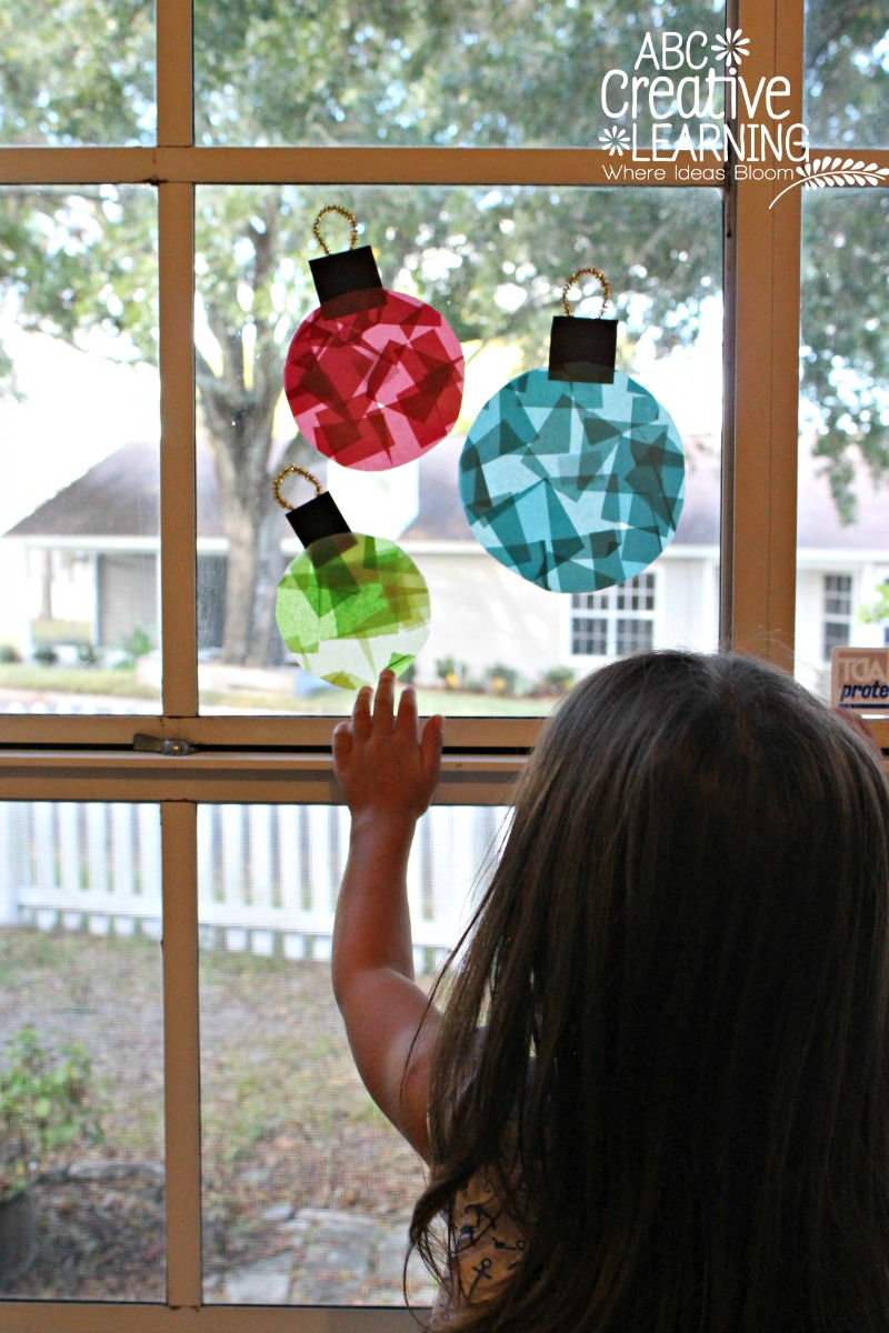 Glass Stained Window Ornaments Kids Craft Simply Today Life