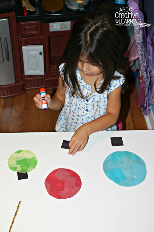 Glass Stained Window Ornaments Kids Craft Fine Motor Skills Activity
