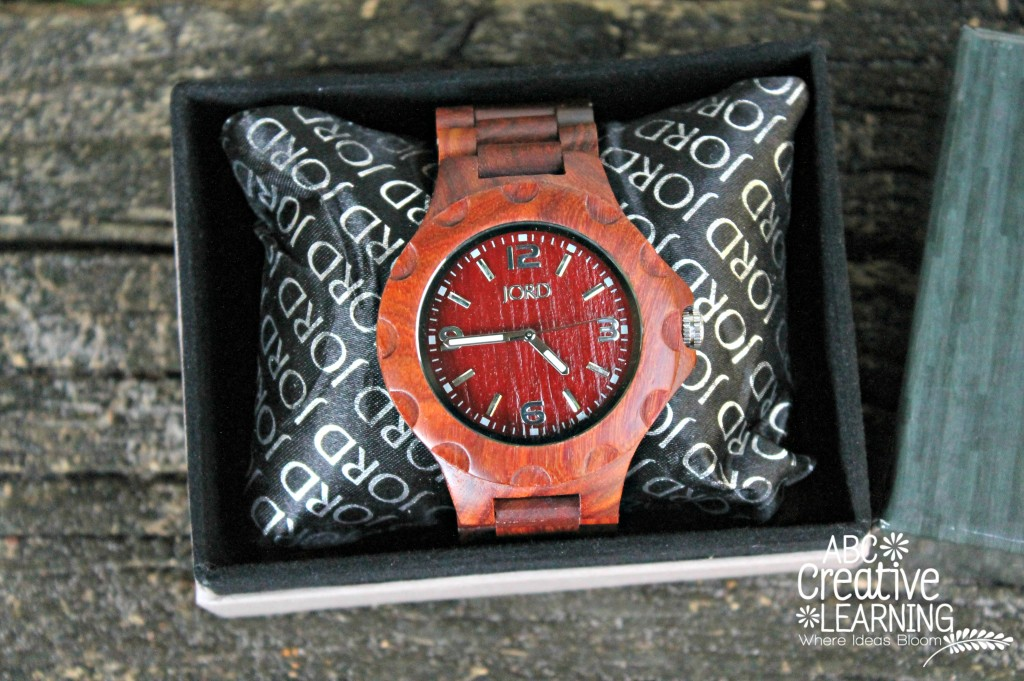 Jord Wood Watch Men Cherry Color