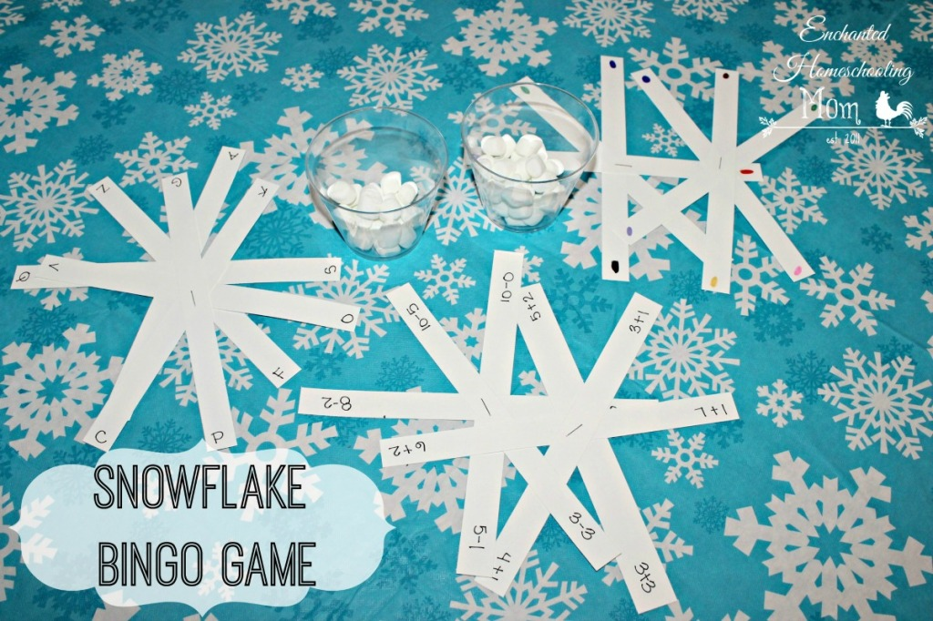 Snowflake Bingo Game for Kids