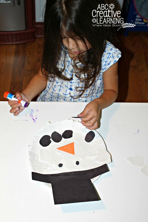 Toddler Snowman Craft