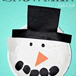 Torn Paper Plate Snowman Kids Craft