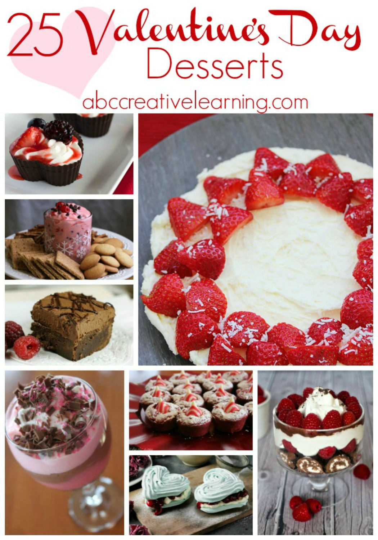 25 Valentine's Day Desserts - abccreativelearning.com