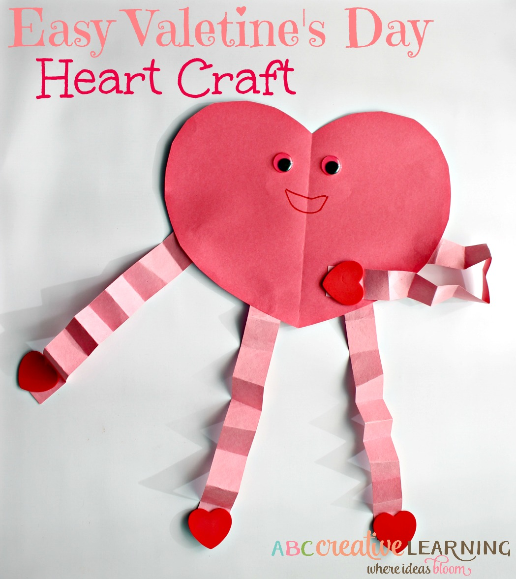 Easy and cute valentine 39 s day heart craft for kids for Valentines day toddler crafts