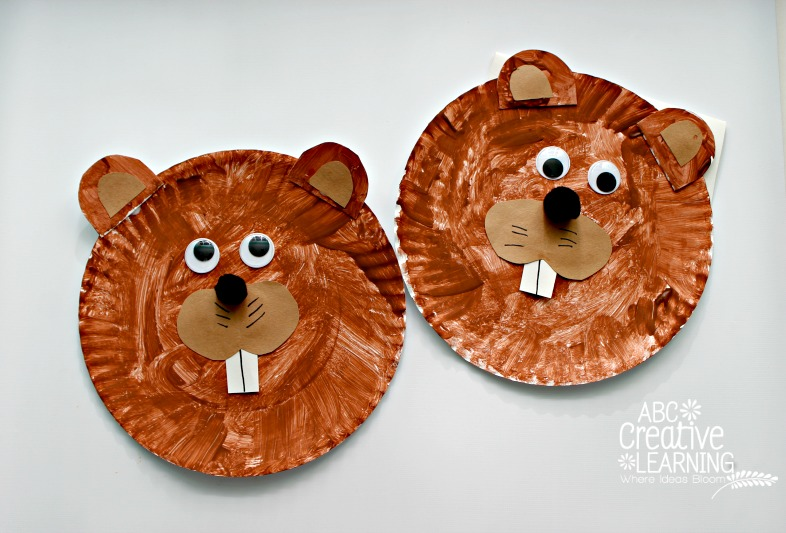 Groundhog Paper Plate Kids Crafts