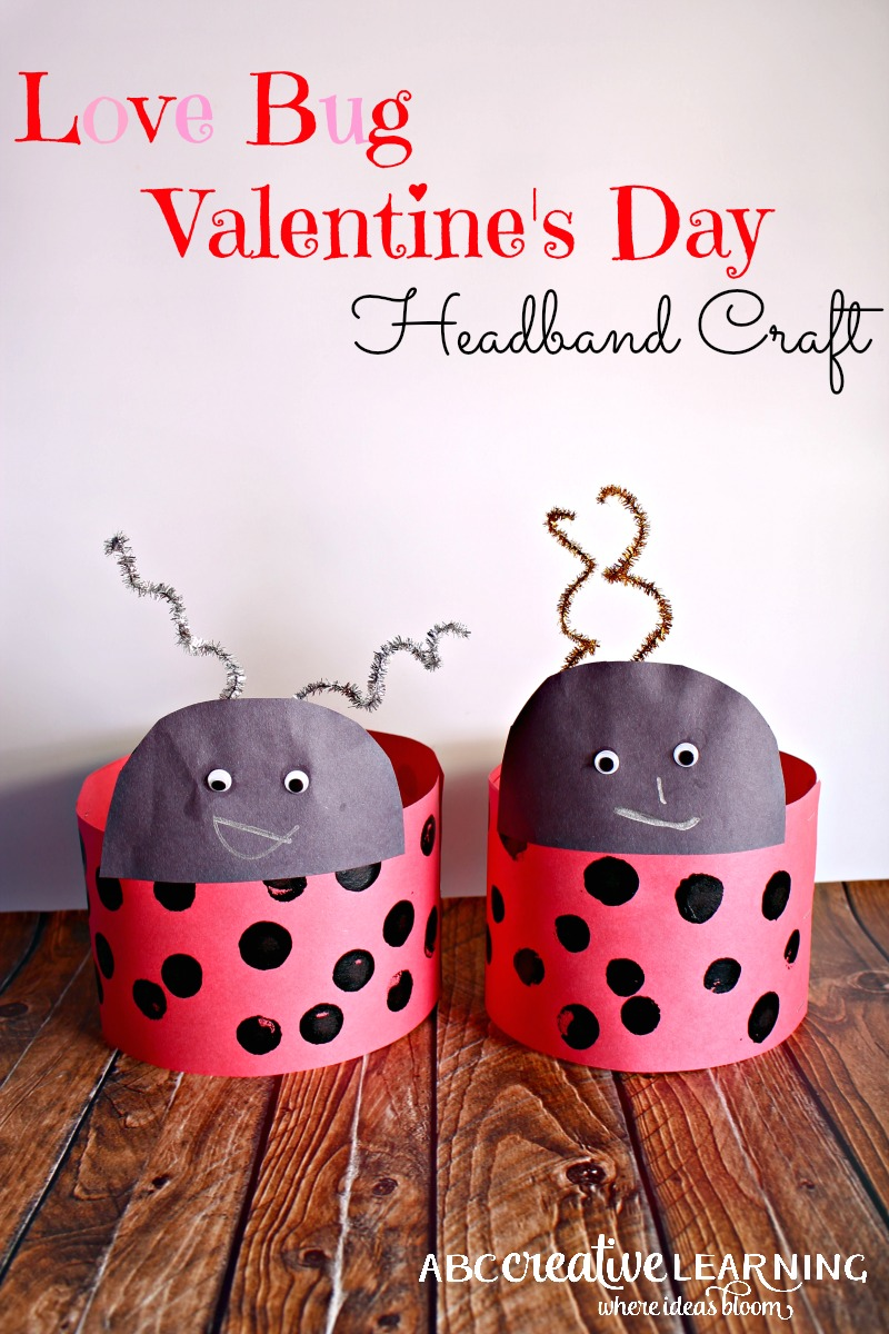 Love Bug Valentines Day Headband Craft