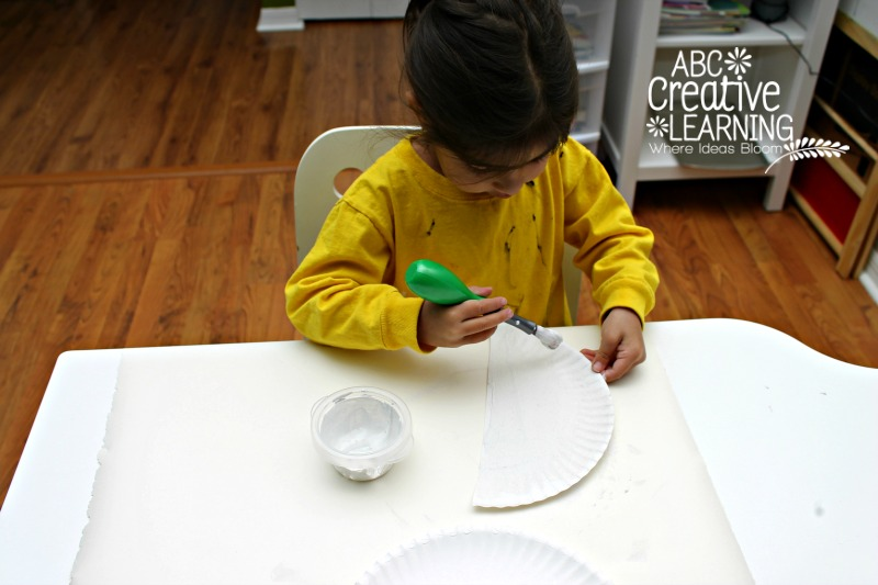 Painting Snowy Owl Paper Plate Kids Craft