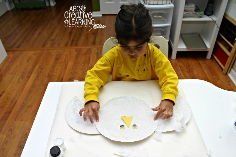 Paper Plate Arctic Owl Craft