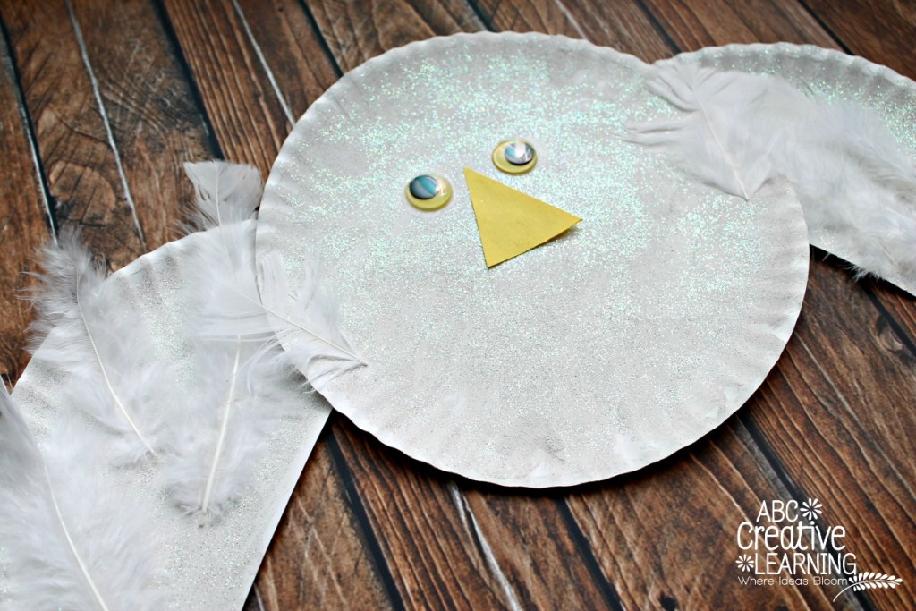 Paper Plate Arctic Snowy Owl Kids Craft